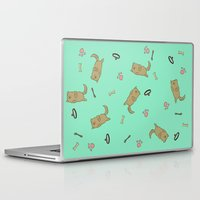 puppies Laptop & iPad Skins featuring Puppies and Play by Sky's