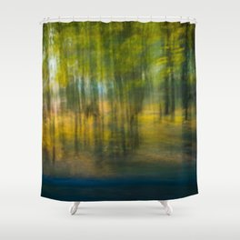 Camel In The Trees Shower Curtain