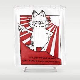 Comrade Garfield Shower Curtain