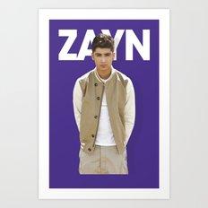 One Direction - Zayn Malik Art Print