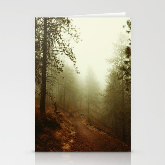 Autumn in Ponderosa Pines Forest Stationery Cards