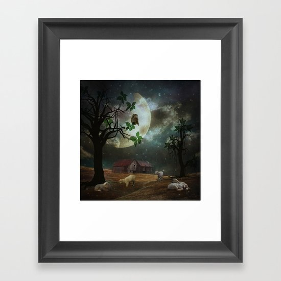 By the Moon Light Framed Art Print