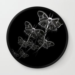 Noctural Ghost Moth Wall Clock