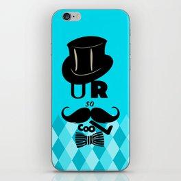 U R so cooL - Funny Blue Graphic Design iPhone Skin