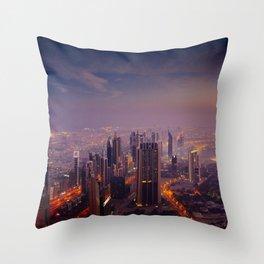 Beautiful Dubai Throw Pillow