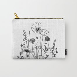 Wildflowers with Poppies Carry-All Pouch