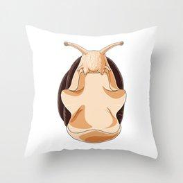 Snail Meditate Throw Pillow