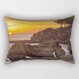 Olhos d'Agua, sunset rocks Rectangular Pillow