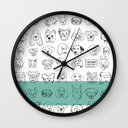 Chiens Et Chat Wall Clock
