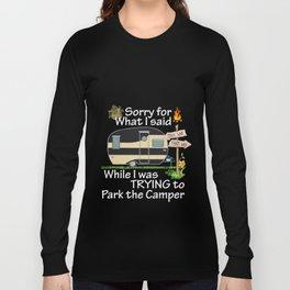 Humor Trailer Camper Family Wilderness Trip Long Sleeve T-shirt