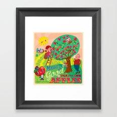 Gerry's apples Framed Art Print