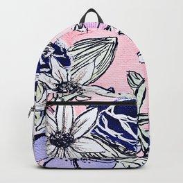 Pink Floral Print Backpack