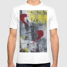 Remember love White MEDIUM Mens Fitted Tee