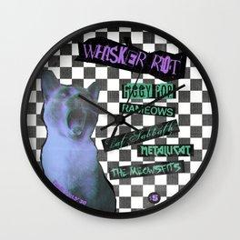 Whisker Riot Wall Clock