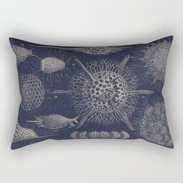 Vintage Radiolaria Diagram Rectangular Pillow