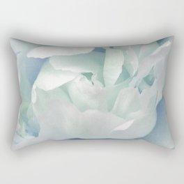 Peony in Blue White Rectangular Pillow
