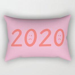 2020 Unhappy Emoji Year Rectangular Pillow