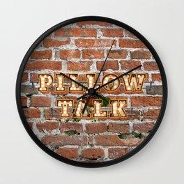 Pillow Talk - Brick Wall Clock