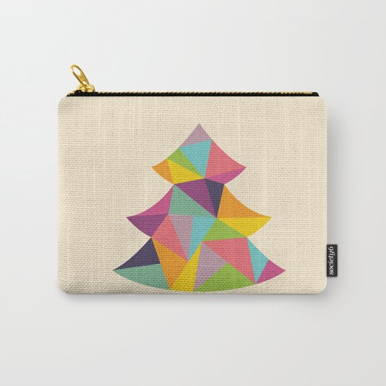 Colourful Christmas Tree Carry-All Pouch