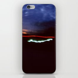 Night Lights Blue Clouds, Tail and Street Light iPhone Skin