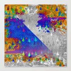 Abstract Colorful Rain Drops Design Canvas Print