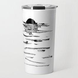 A flaming sunset Travel Mug