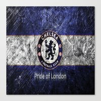 chelsea Canvas Prints featuring CHELSEA by Acus