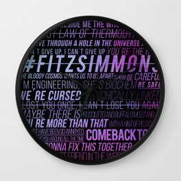 FS phrases Cutie Wall Clock