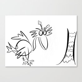 Bird Sketch Canvas Print