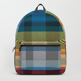 check striped multicolour Backpack