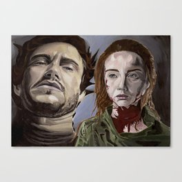 Abigail and Will 2., acrylic painting Canvas Print