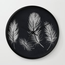 Chalk feather collection Wall Clock