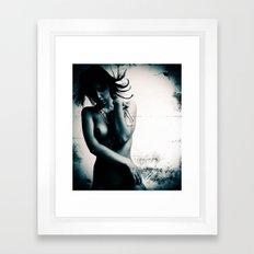 Nude grunge Framed Art Print