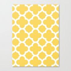 Yellow Quatrefoil Canvas Print