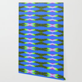 Bright Blue Disco Waves Wallpaper
