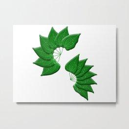 Spiral Leaves Metal Print