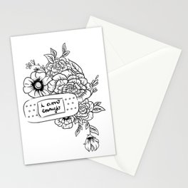 I Am Enough: Floral Design Stationery Cards