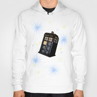 tardis Hoodies featuring TARDIS by Colunga-Art