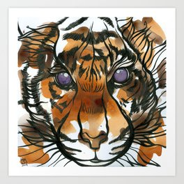 Tea Tiger Art Print