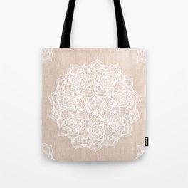 Modern boho Love Mandala pattern - Terracotta cream Tote Bag