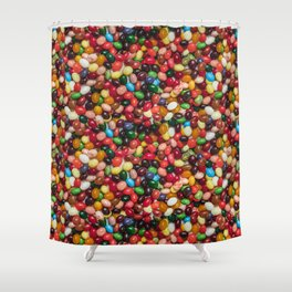 Gourmet Jelly Beans Candy Photo Pattern Shower Curtain