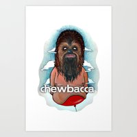 chewbacca Art Prints featuring CHEWBACCA by Morbix