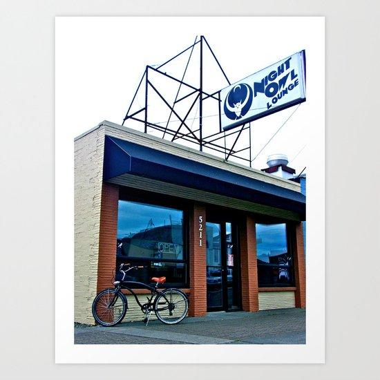 Tacoma's Night Owl Art Print