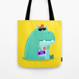 Hip Hop Hippo Tote Bag