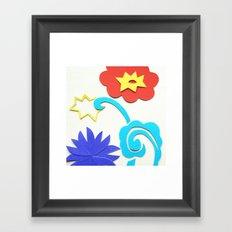 Garden Lightning Papercut Framed Art Print