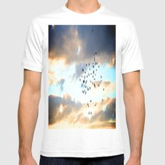 Don't Break Formation MEDIUM Mens Fitted Tee White