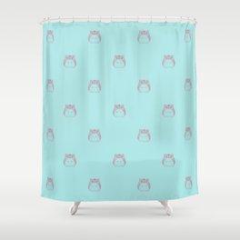 Cute Hamster Pattern Illustration Shower Curtain
