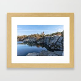 Autumn Quarry Landscape Framed Art Print