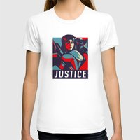 justice T-shirts featuring Justice by Astrobunny
