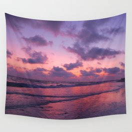Sunset Pink glow Wall Tapestry